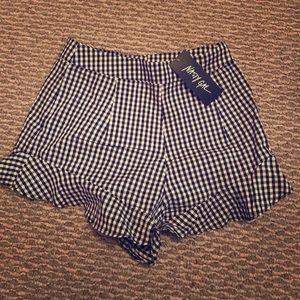 Nasty Gal Plaid Shorts